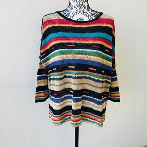 🎈Colorful oversized casual sweater New M